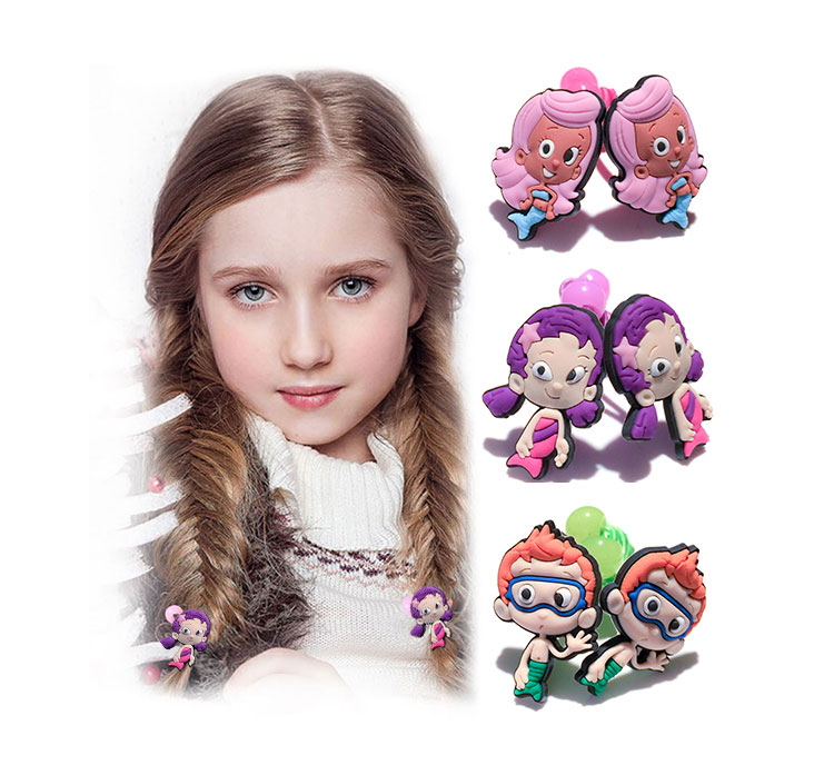 2Pcs Bubble Guppies Cartoon Hair bands Kids Hair Accessories Kids Party Gifts
