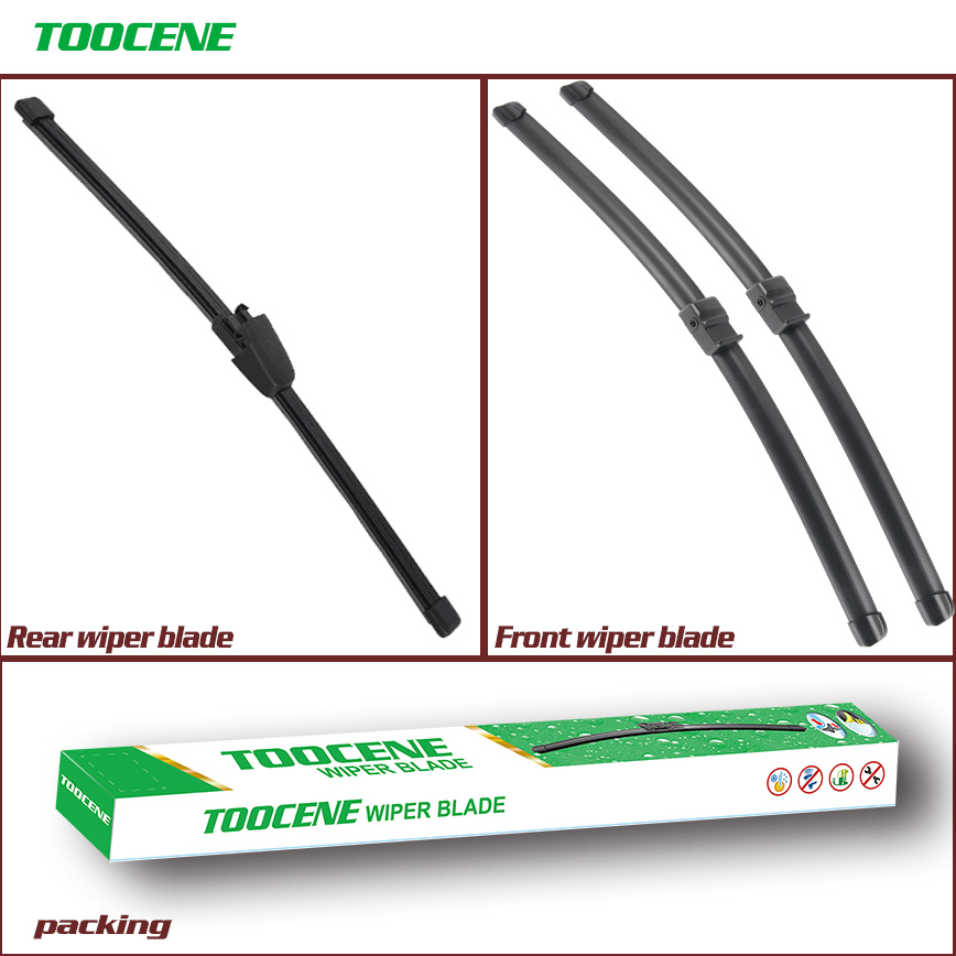 Front And Rear Wiper Blades For Volkswagen Touareg 2007-2009  High Quality Natural Rubber Windscreen 26''+26'' Car Accessories
