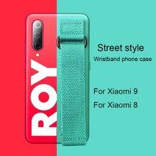 Original ins Case for Xiaomi mi 9 Soft Silicone Simple Wristband Official Same Paragraph Cover blue rubber 8