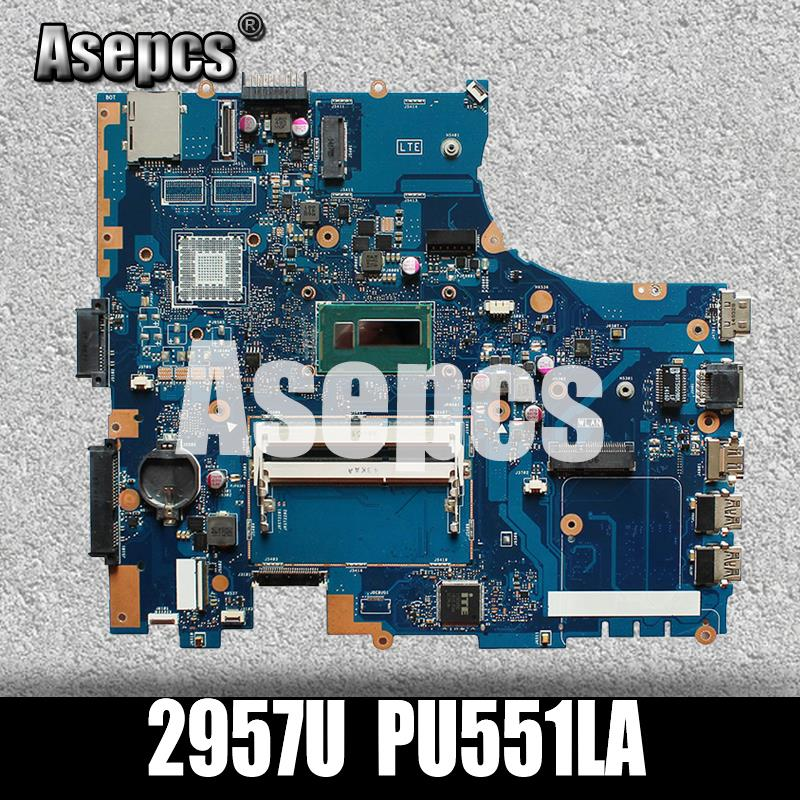 Asepcs PU551LA laptop motherboard For asus PRO551L PU551L PU551LA PU551LA test original mainboard rev 2.0 2957U