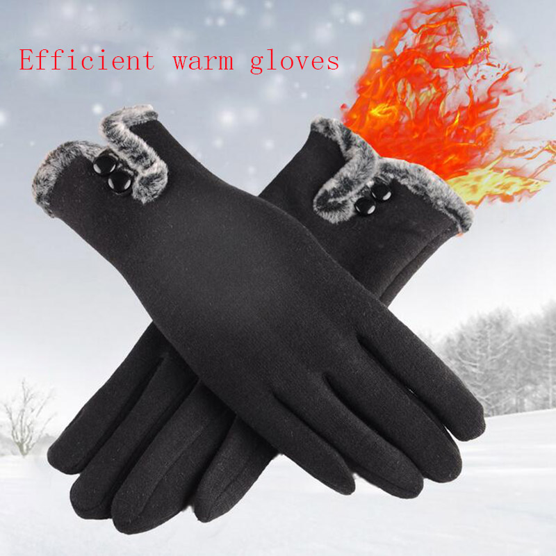 Comfortable and Warm Non Inverted Touch Screen Gloves for Women with Sensitive Touch Screen Function without Hand Exposing to Cold 2