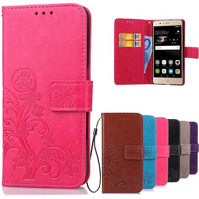 78e67f6fb172c4 Luxury Retro Cover Huawei P9 P9 Lite Flip Case PU Leather Soft Silicone Wallet  Flip Cover Case For Huawei P9 Lite   P9 Plus