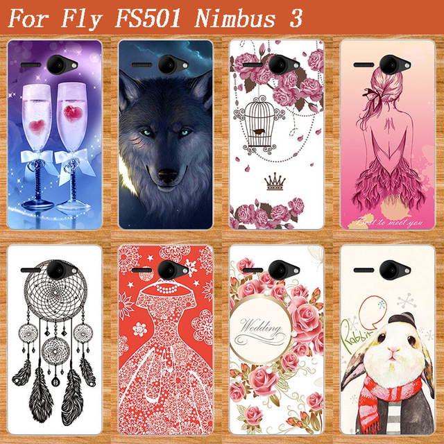 100% authentic b58b3 dfdb8 US $2.7 25% OFF|2017 Newest Cellphone Cover For Fly FS501 Soft TPU Case  Brilliant Colors Best Design Cover Case For Fly FS501 Smart Phone Case -in  ...