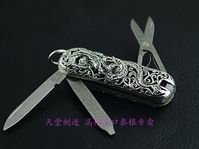 цена на Thailand imports 925 Silver Shell Pendant with Genuine knife