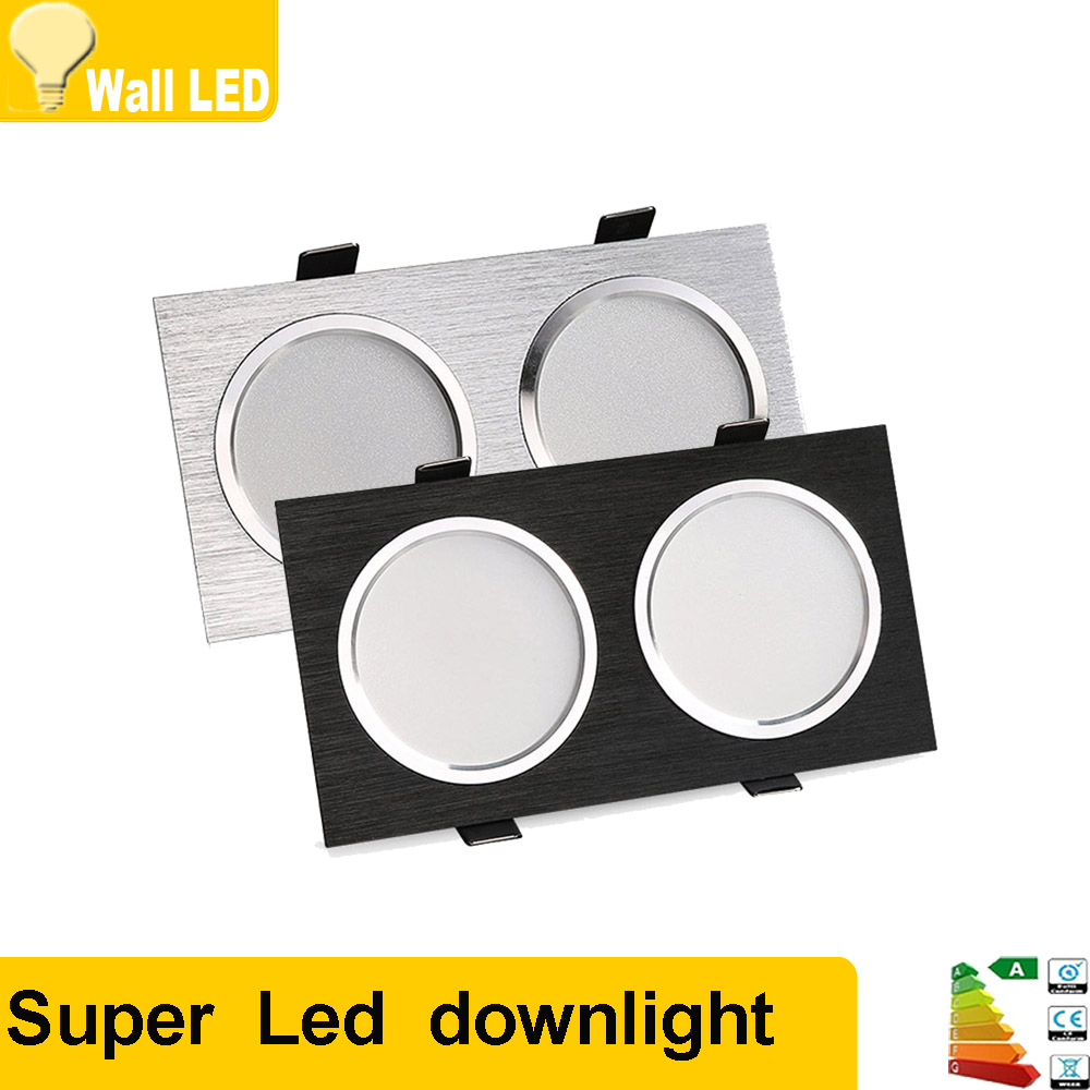 Square double led dimmable12w 16w 20w led fog downlight - Downlight led 20w ...