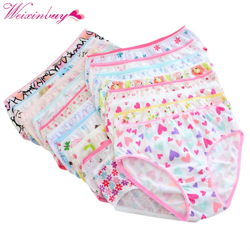 6pcs/pack Lovely Baby Girls Underwear Cotton Panties For Girls Kids Short Briefs Children Underpants hot sale cotton girls underwear solid low waist short briefs comfortable antibacterial woman panties 100