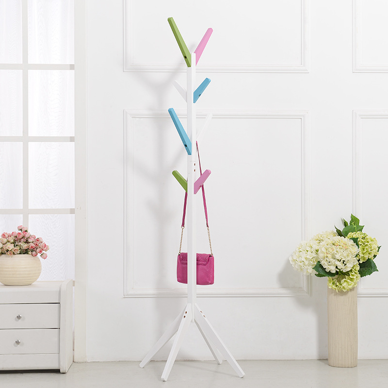 Colorful Furniture Solid Wood Living Room Coat Rack Display Stands Scarves Hats Bags Clothes Shelf Fashion solid wood coatrack branch children fashion clothes rack hook bedroom hanger coat racks assemble colorful living room furnitur