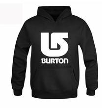 Burton Autumn Winter Hooded Pullover Male Hip Hop Long Hoodies Clothing Men Outerwear Cool Man Tracksuit Sweatshirt RAA0483