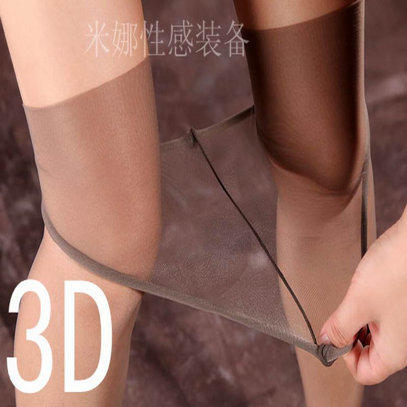 summer new women sexy 3D ultra-thin seamless transparent stockings low waist transparent toesstocking Invisible pantyhose