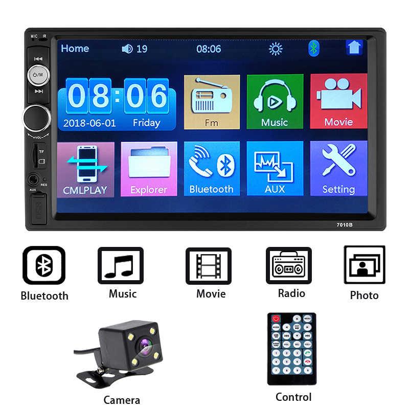 """2 Din カーラジオ Autoradio 7 """"HD マルチメディアプレーヤー 2DIN タッチスクリーンの自動オーディオ、カーステレオ MP5 Bluetooth アンドロイドカーオーディオ"""