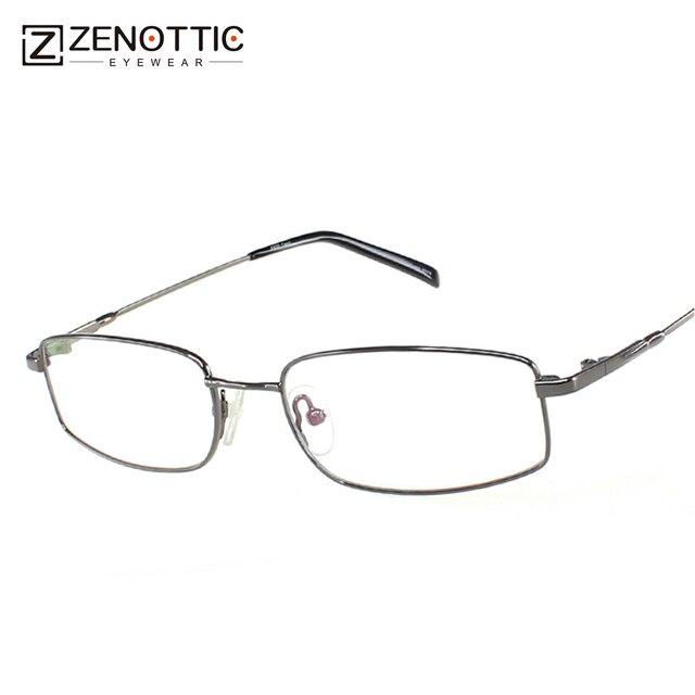 fa23de034dcbf ZENOTTIC Projeto titanium fram óculos homens memória Ponte Flexível DT296  TEMPLO Óculos Eyewear Moda Óptica