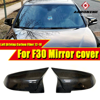 F30 Mirror Cover Left Driving Carbon Black Fits For BMW 3 series 318i 320i 325i 330i Replacement Side Door Mirror Wings 2012 18