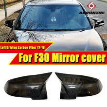F30 Mirror Cover Left Driving Carbon Black Fits For BMW 3 series 318i 320i 325i 330i Replacement Side Door Mirror Wings 2012-18 e90 carbon fiber rear view mirror cover side mirror caps 1 1 replacement fits for bmw 3 series 320i 323i 325i 328i 330i 2005 07