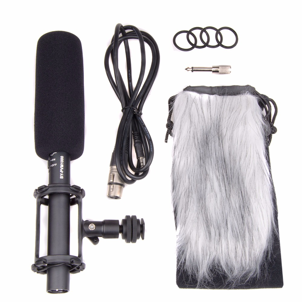 BOYA BY PVM1000 Condenser Video/interview Microphone for Canon for Nikon for Sony DSLR Camera