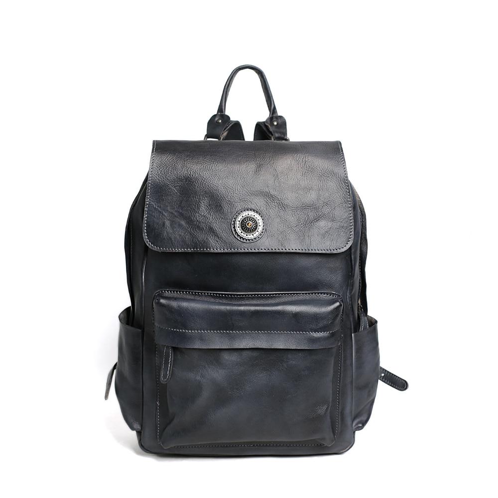 ROCKCOW HANDCRAFTED GENUINE LEATHER BACKPACK, TRAVEL BACKPACK, LAPTOP BAG, SCHOOL BACKPACK 9031 rockcow handcrafted vintage style top grain leather backpack travel backpack unisex backpack 8904