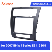 Seicane 2 Din Car Trim Panel Plate Kit for 2007 BMW 1 Series E81 DVD Player Stereo Refitting Frame