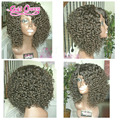 180% density Short Bob Human Hair Wig Kinky Curly Wig Glueless Full Lace Human Hair Wig For Black Women Brazilian Lace Front Wig