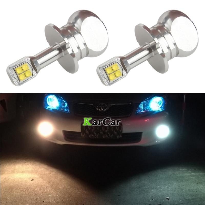 2PCS / Lot Novi 40W CREE Chip XBD 390LM H3 LED žarulje za maglu 12V 24V H3 Dnevno vrijeme automobila žarulje LED svjetla za maglu 6000K bijela svjetla