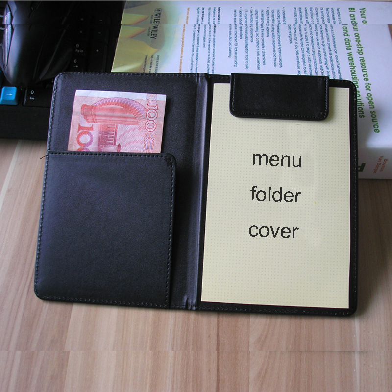 PU Leather Menu Folder Cover Menus Holder Organizer Filing Holders Notepad Folder Cover Accounts Office Hotel Accessories