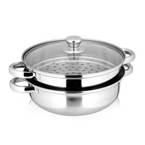Pot Cooker-Steamer 3-Layer Hot-Pot 28CM Grid Stainless-Steel Thicken