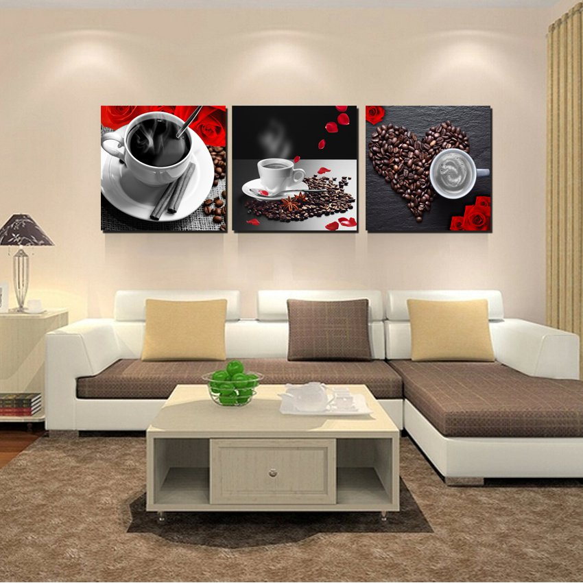 Unframed picture 3 pieces gift home decoration canvas for Home decoration pieces