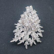 New Gorgeous Clear Crystal Rhinestone Christmas Tree Pin Brooch In Wedding Jewelry  BH7757