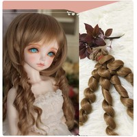 10PCS/LOT New Doll Curly Hair DIY SD BJD Wigs High Temperature Wire Synthetic Hair Doll 15CM