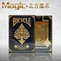 Bicicleta cubierta de oro magic trucos de magia magic accesorios de bicicletas tarjetas de nosotros fuera de impresión envío gratis