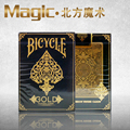 Bicycle Gold Deck magic tricks magic props bicycle cards from US Out of print free shipping