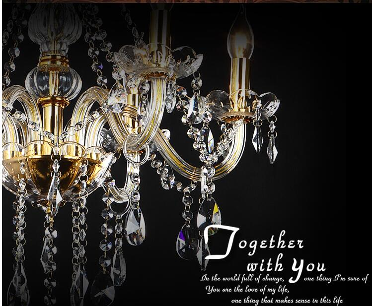 Անվճար առաքում 18 Arms 100% K9 Gold Crystal Luxury Big - Ներքին լուսավորություն - Լուսանկար 2