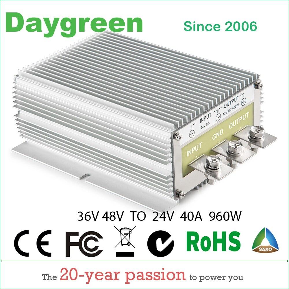 все цены на 36V 48V TO 24V 40A STEP DOWN DC DC CONVERTER 36VDC 48VDC TO 24V DC 40 AMP 960Watt B40-3648-24 Daygreen CE RoHS Certificated онлайн