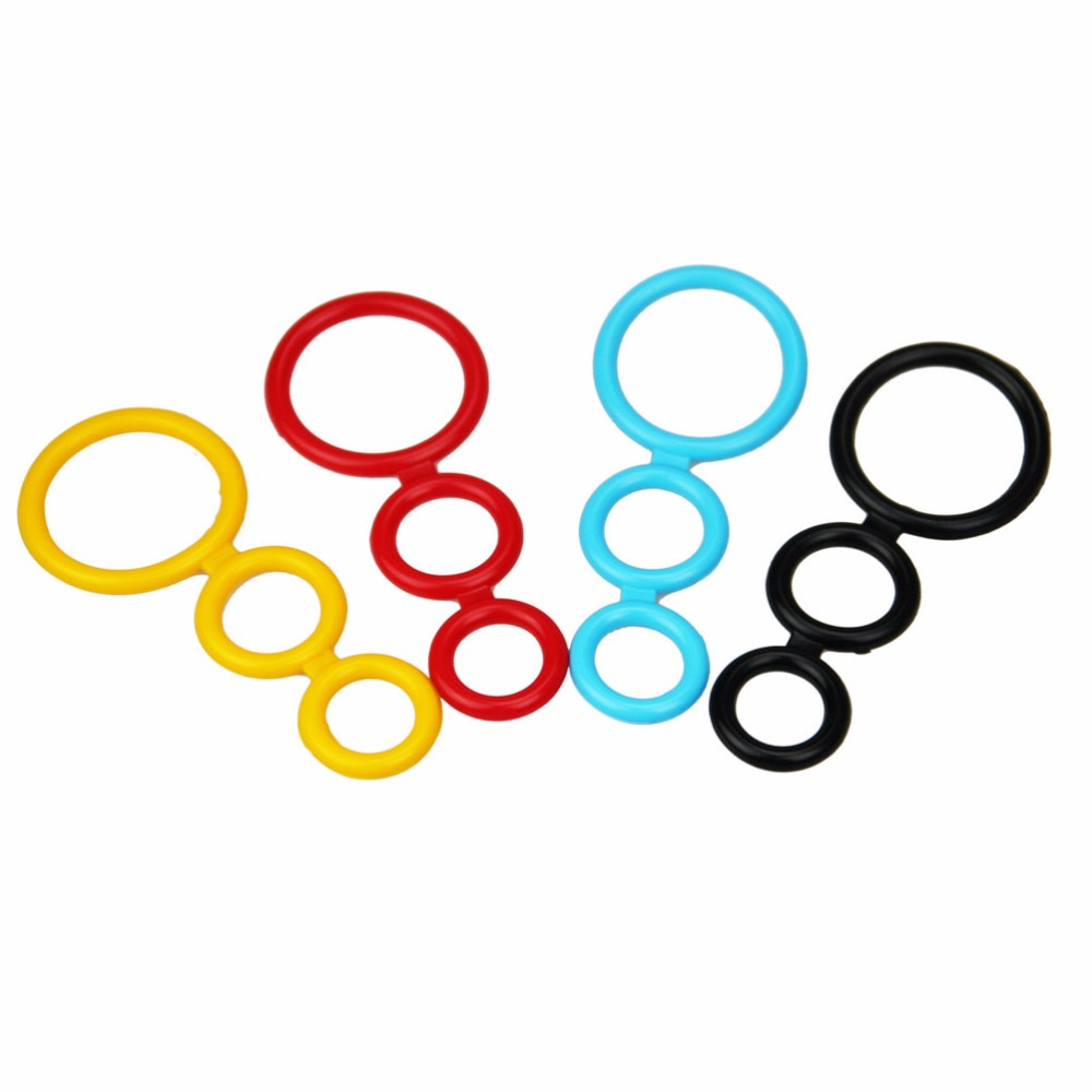 Buy 4 colors Silicone Time Delay ejaculation Penis Rings Cock Rings, Adult Products Male Sex Toys lasting