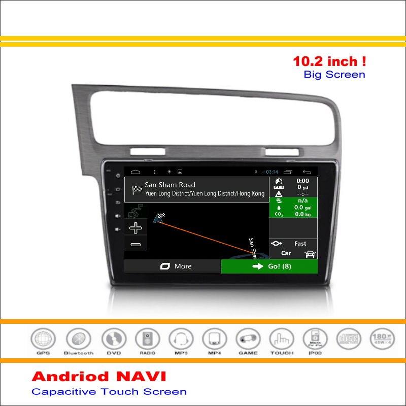Android sistema de navegación gps del coche para volkswagen vw golf mk7 2012 ~ -