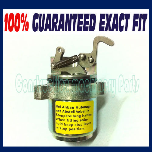 Bobcat Fuel Shut Off Solenoid 863 864 873 883 Deutz Skid Steer Loader 04272733 0427 2733 new turbo for deutz bf4m1011f turbocharger with gasket bobcat 863