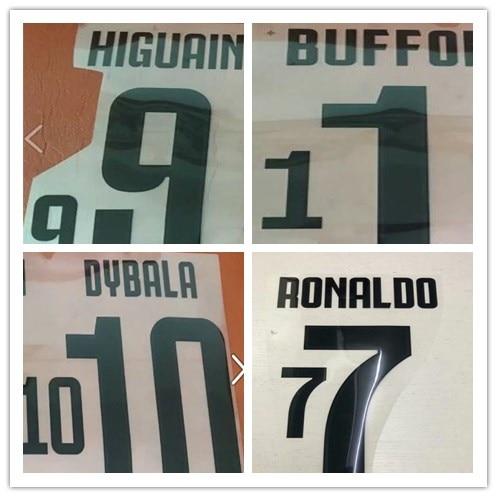 5290866f041 Juventus RONALDO D.COSTA DYBALA HIGUAIN MARCHISIO CHIELLINI DYBALA MATUIDI  number font print