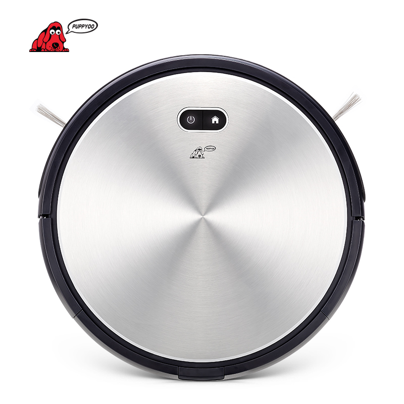 PUPPYOO Robotic Vacuum Cleaner Auto-charge Powerful Bilateral Brush Home Robots Collector APP Control Machine WP650
