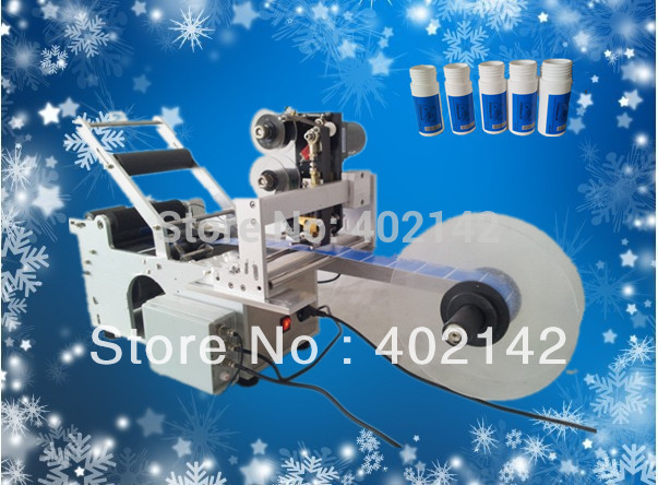 Free Shipping,100% Warranty Semi-automatic Round Bottle labeling machine MT-50D with dater free shipping mt 50 semi automatic label applicator round bottle labeling machine
