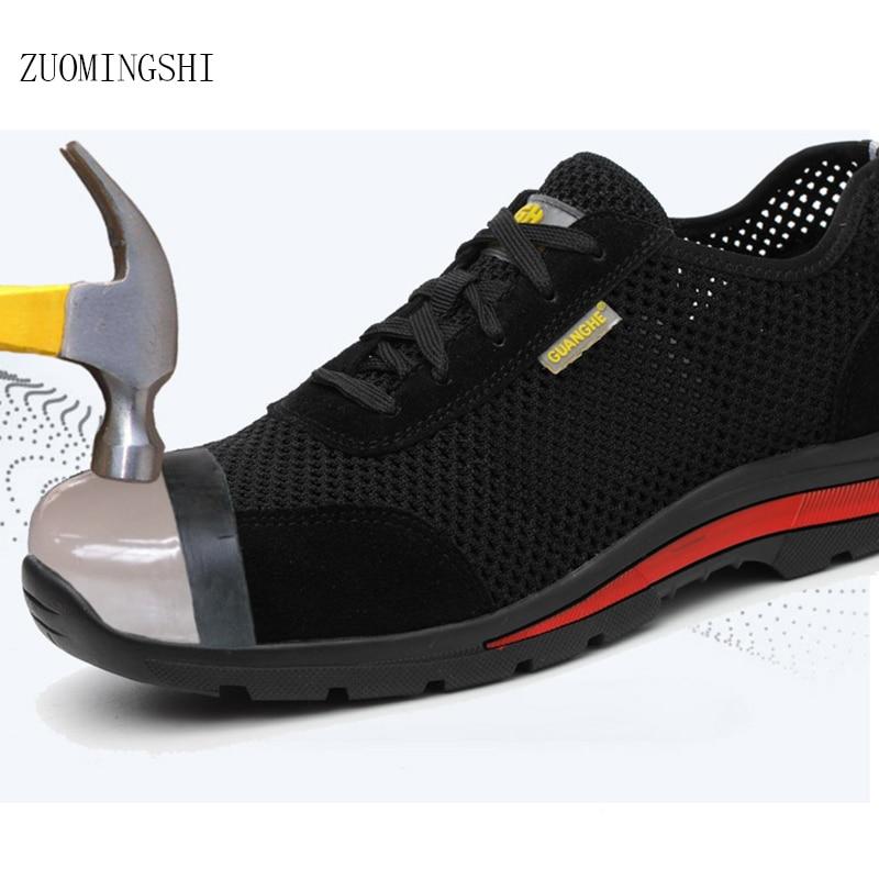 09cef4e18 Cheap Verano EHS botas de seguridad hombres bot transpirable anti olores  zapatos de mano de obra