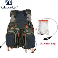 Fly Fishing Vest Fishing Backpack Outdoor sports Backpack Bag +2L Hydration Water Pack Bladder, Water Reservoir Bag