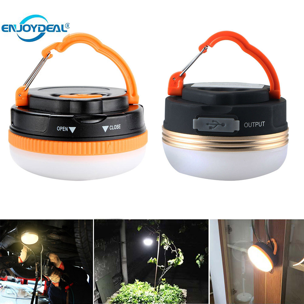 1pcs Portable LED Camping Light battery-operated / USB rechargeable Ultra Bright Lantern Tent Lamp Hanging Nightlight Camping