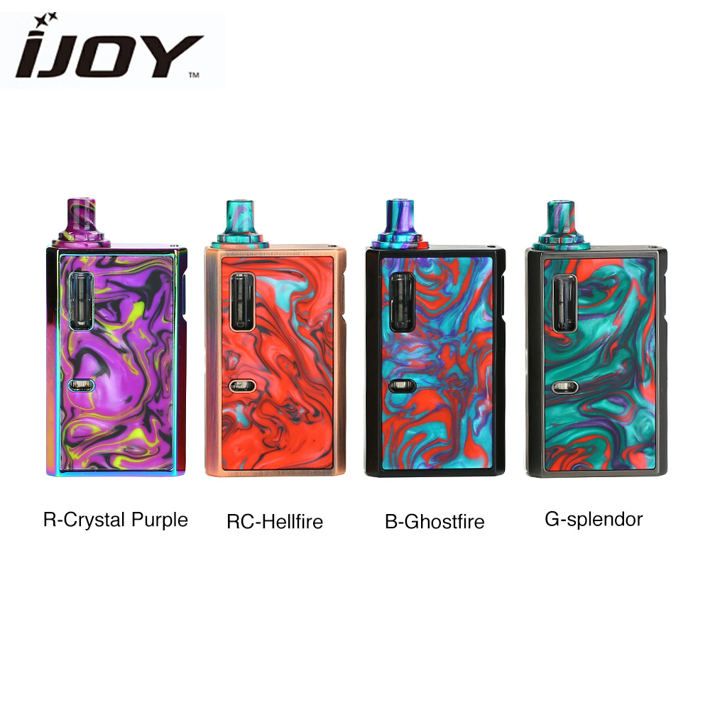 New Original Electronic Cigarettes IJOY MERCURY KIT 1100mah Battery All-in-one Vape Kit 2ml Pod With Mercury Mech Coil VS Drag 2
