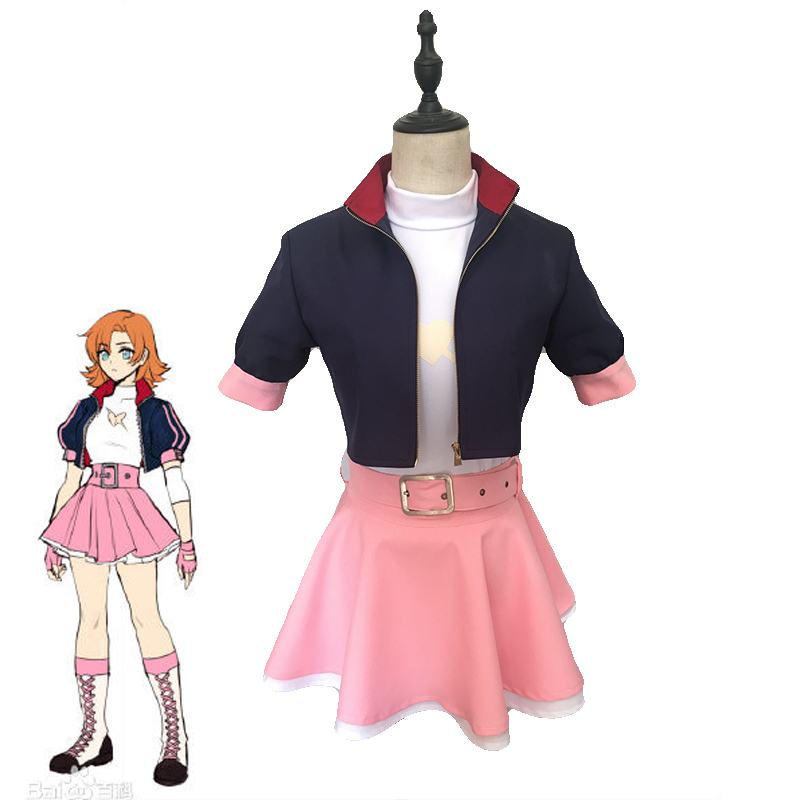 Hot RWBY Nora Valkyrie Cosplay Costume Women's Fancy Dress Halloween Carnival Uniforms Custom Made Full set Coat+Top+Skirt