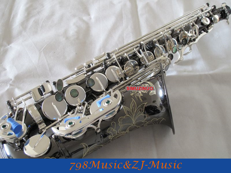 NEW Professional Black Nickel Body and Silver Plated Keys Eb Alto Saxophone High F# With Case the black keys the black keys el camino 2 lp