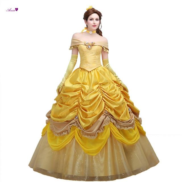 Custom Beauty And The Beast Princess Belle Cosplay Costume Dress
