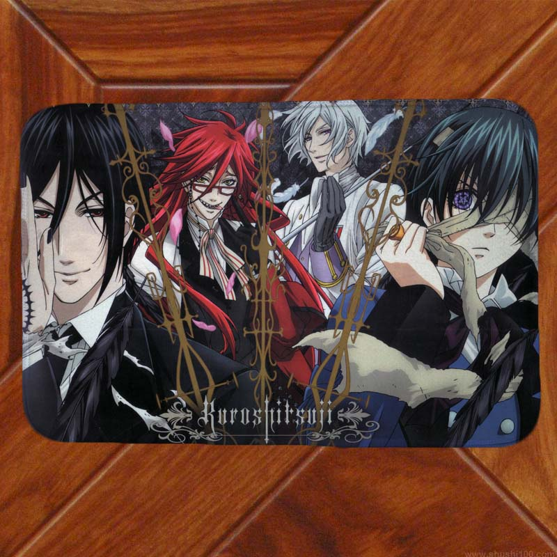 Kuroshitsuji Black Butler Ciel Floor Mat Carpet Decor Bedroom Doormat Anime Manga 001