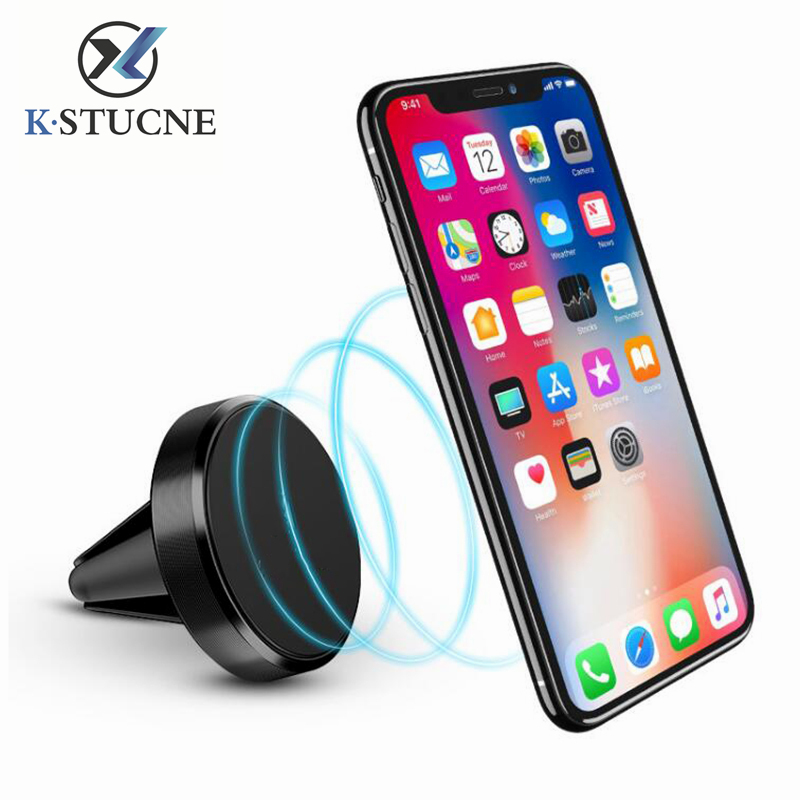 Magnetic Phone Holder Universal Holder On Car GPS Air Vent Mount Magnet Cell Phone Stand Holder For iPhone X Xiaomi Redmi Stand