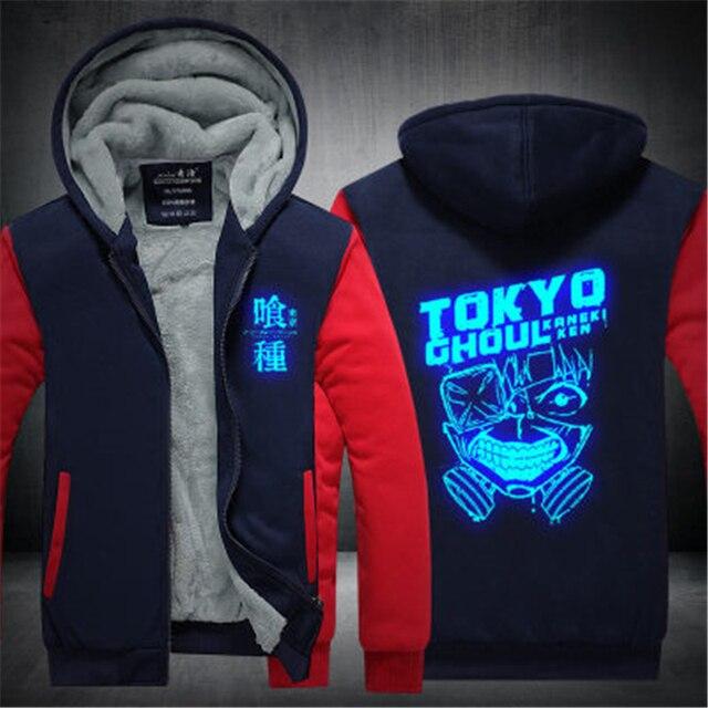 Аниме толстовка теплая Токийский Гуль Маска Кен Канеки 1