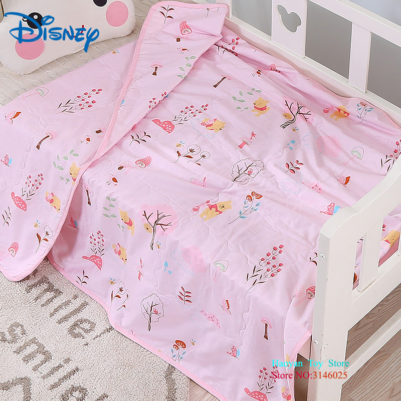Disney 120X150CM Cartoon Minnie Mickey Mouse Soft Tussah Silk Blanket Throw For Girls Children On Bed Sofa Cotton Blanket Kids ruffles embellished knit mermaid blanket throw for kids