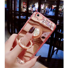 iwalk bcm002ih fashion mirror design protective plastic back case for iphone 5 black Luxury Jewelled Shiny Plating Mirror Case For iPhone 8 7 6 6S Plus Case Ring Holder Protective Back Cover For iPhone 7 8 Plus