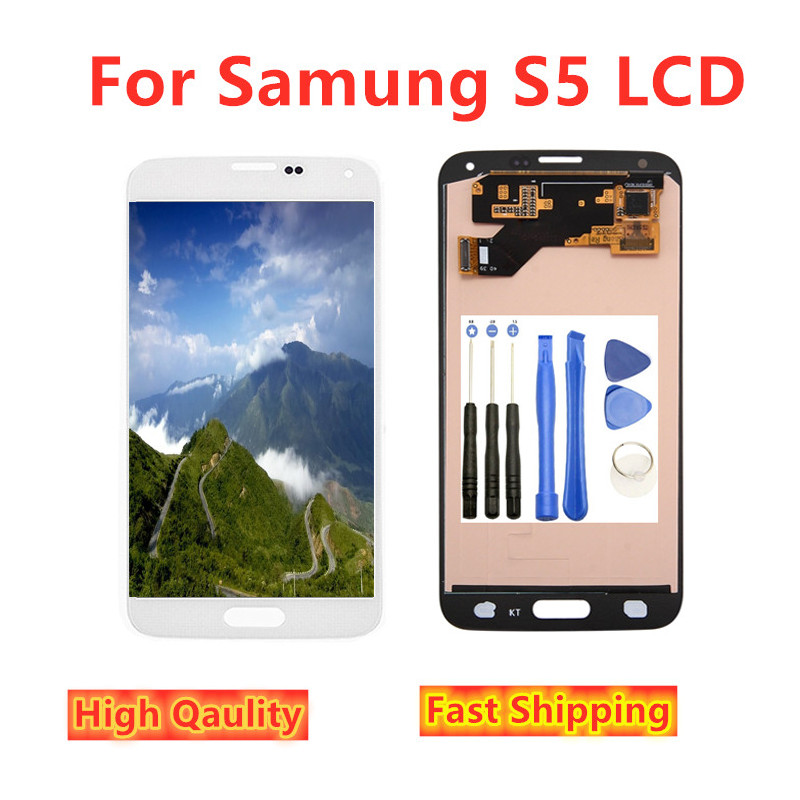 100% Tested TFT LCD <font><b>Display</b></font> For Samsung S5 G900M G900A G900T G900W8 lcd <font><b>display</b></font> For Samsung S5 <font><b>G900</b></font> LCD Screen <font><b>Display</b></font> SM-G900F image